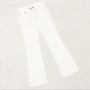 Lucky brand jeans white flare bootcut 25